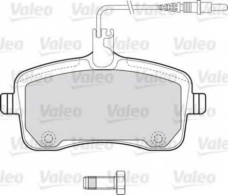 Колодки тормозные дисковые VALEO 598662 - изображение