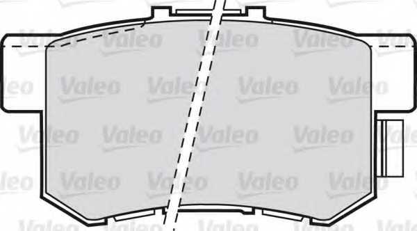 Колодки тормозные дисковые задний для HONDA ACCORD, CIVIC, CR, FR, INTEGRA, LEGEND, PRELUDE, S2000, SHUTTLE, STREAM <b>VALEO 598682</b> - изображение