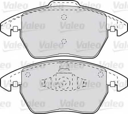 Колодки тормозные дисковые VALEO 598715 - изображение