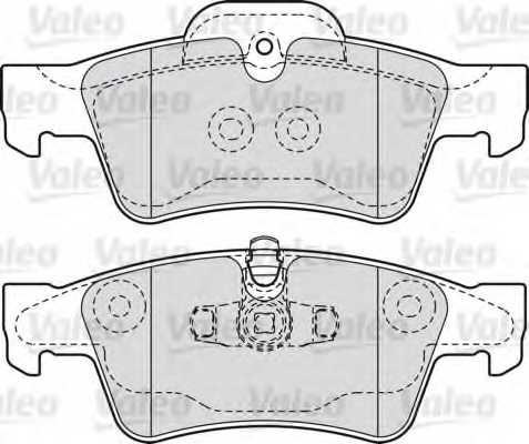 Колодки тормозные дисковые задний для MERCEDES CLS(C219), GL(X164), GLK(X204), M(W164), R(V251,W251), S(C216,W221), SL(R230), V(638/2), VITO(638) <b>VALEO 598802</b> - изображение