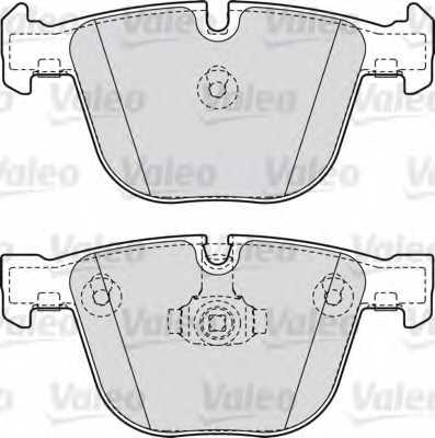Колодки тормозные дисковые VALEO 598820 - изображение