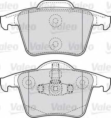 Колодки тормозные дисковые VALEO 598829 - изображение