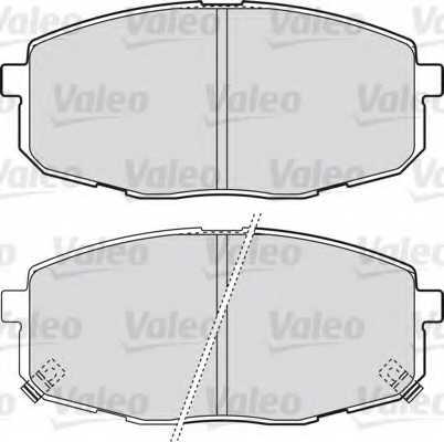 Колодки тормозные дисковые VALEO 598842 - изображение