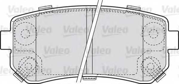 Колодки тормозные дисковые VALEO 598867 - изображение
