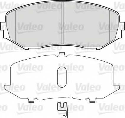 Колодки тормозные дисковые передний для SUZUKI GRAND VITARA(FT,JT), XL7(JC) <b>VALEO 598877</b> - изображение
