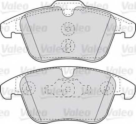 Колодки тормозные дисковые передний для FORD GALAXY(WA6), MONDEO(BA7), S-MAX(WA6) / LAND ROVER FREELANDER(FA#,LF#) / VOLVO S60, S80(AS), V60, V70(BW), XC70 <b>VALEO 598879</b> - изображение