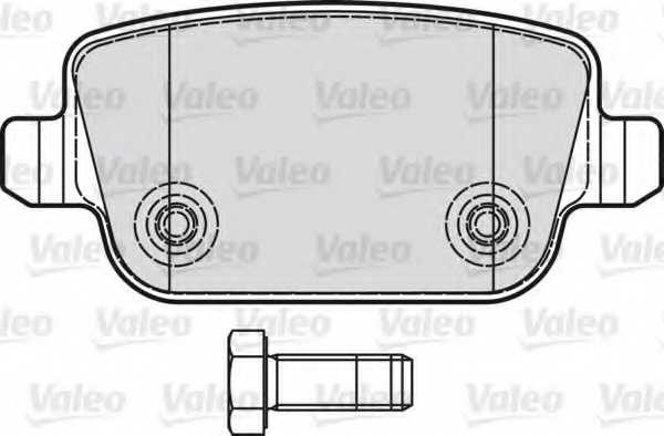 Колодки тормозные дисковые задний для FORD FOCUS, GALAXY, KUGA, MONDEO, S-MAX / LAND ROVER FREELANDER / VOLVO S80, V70, XC70 <b>VALEO 598935</b> - изображение