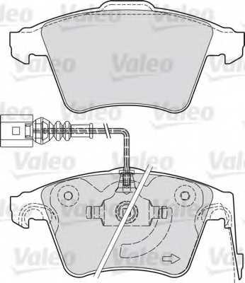 Колодки тормозные дисковые передний для PORSCHE CAYENNE(955,9PA) / VW TOUAREG(7L6,7L7,7LA) <b>VALEO 598940</b> - изображение