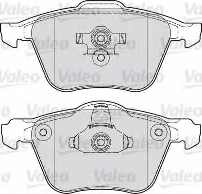 Колодки тормозные дисковые передний для FORD FOCUS(DA#) / MAZDA 3(BK,BL) / VOLVO C70, S40(MS), V50(MW), XC90 <b>VALEO 601030</b> - изображение