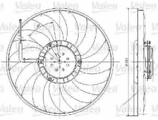 Вентилятор охлаждения двигателя VALEO 696017 - изображение