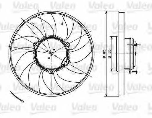 Вентилятор охлаждения двигателя VALEO 696083 - изображение
