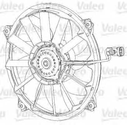 Вентилятор охлаждения двигателя VALEO 696091 - изображение