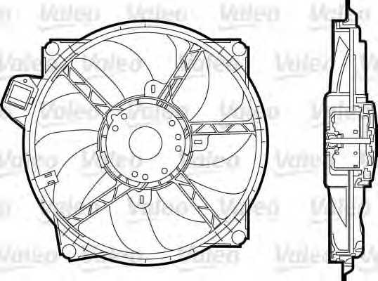Вентилятор охлаждения двигателя VALEO 696376 - изображение