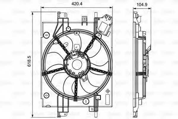 Вентилятор охлаждения двигателя VALEO 696550 - изображение