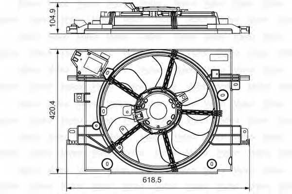 Вентилятор охлаждения двигателя VALEO 696880 - изображение