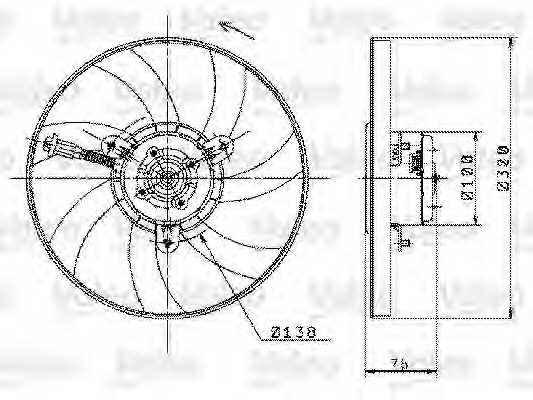 Вентилятор охлаждения двигателя VALEO 698358 - изображение