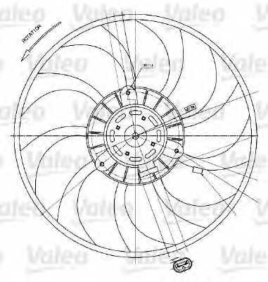 Вентилятор охлаждения двигателя VALEO MF1022 / 698424 - изображение