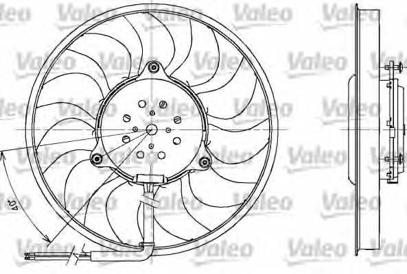 Вентилятор охлаждения двигателя VALEO MF1121 / 698611 - изображение