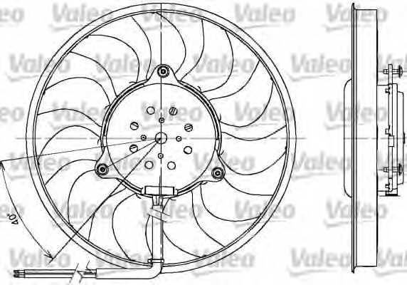 Вентилятор охлаждения двигателя VALEO MF1122 / 698612 - изображение