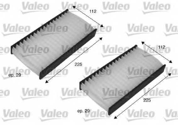 Фильтр салонный VALEO 698735 - изображение