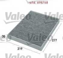 Фильтр салонный VALEO 698768 - изображение