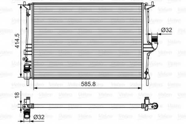 Радиатор охлаждения двигателя VALEO 700801 - изображение