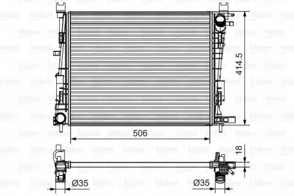 Радиатор охлаждения двигателя VALEO 701514 - изображение