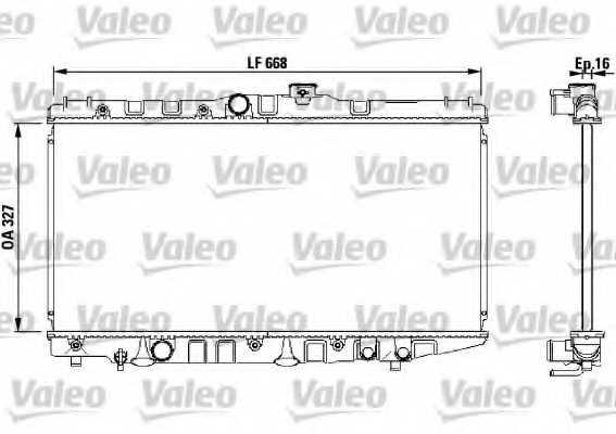 Радиатор охлаждения двигателя VALEO 730471 - изображение