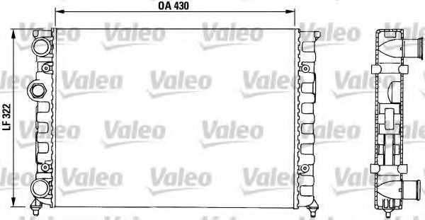 Радиатор охлаждения двигателя VALEO TA650 / 730503 - изображение
