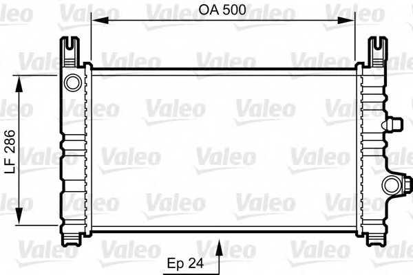 Радиатор охлаждения двигателя VALEO 731299 - изображение