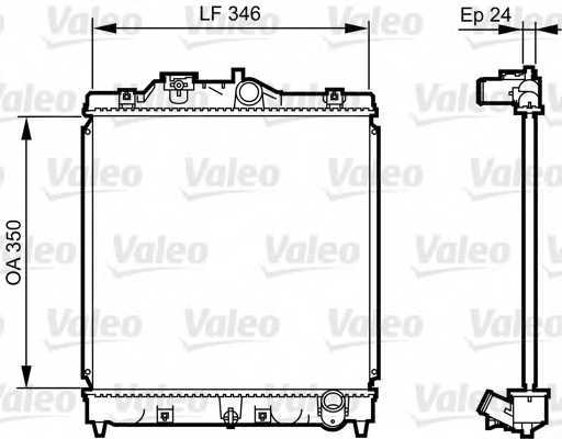 Радиатор охлаждения двигателя VALEO 731434 - изображение