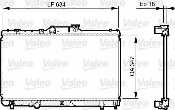 Радиатор охлаждения двигателя VALEO 731441 - изображение