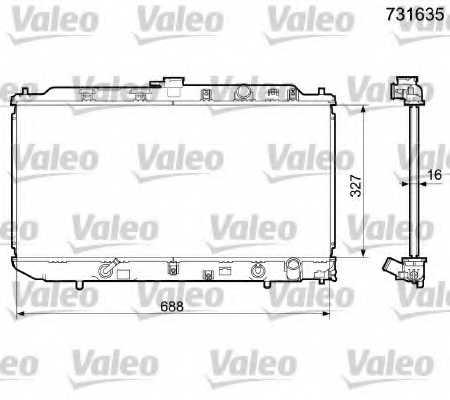 Радиатор охлаждения двигателя VALEO 731635 - изображение