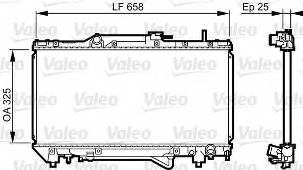 Радиатор охлаждения двигателя VALEO 731682 - изображение