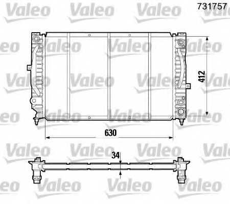 Радиатор охлаждения двигателя VALEO 731757 - изображение