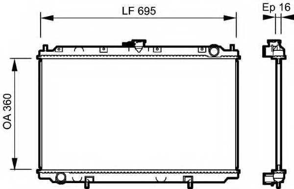 Радиатор охлаждения двигателя VALEO 732528 - изображение