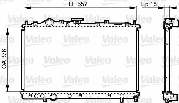 Радиатор охлаждения двигателя VALEO 732612 - изображение