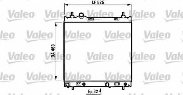Радиатор охлаждения двигателя VALEO 1006063 / 732704 - изображение