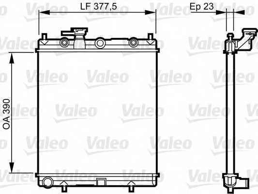 Радиатор охлаждения двигателя VALEO 732718 - изображение