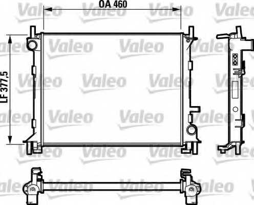 Радиатор охлаждения двигателя VALEO RM1338 / 732731 - изображение