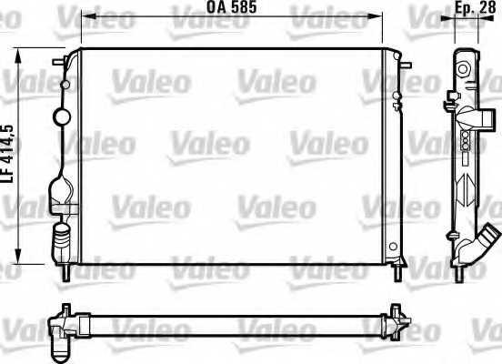 Радиатор охлаждения двигателя VALEO 732866 - изображение