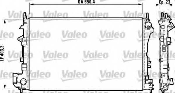 Радиатор охлаждения двигателя VALEO RM1620 / 732879 - изображение