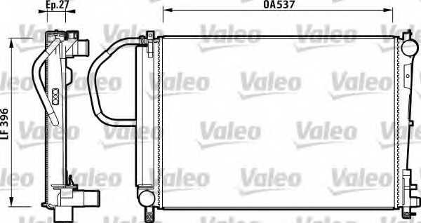 Радиатор охлаждения двигателя VALEO RA1191 / 732883 - изображение