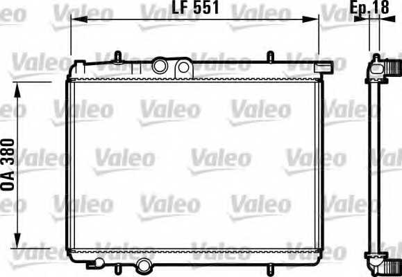Радиатор охлаждения двигателя VALEO 732886 - изображение