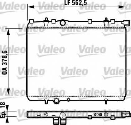 Радиатор охлаждения двигателя VALEO 732904 - изображение