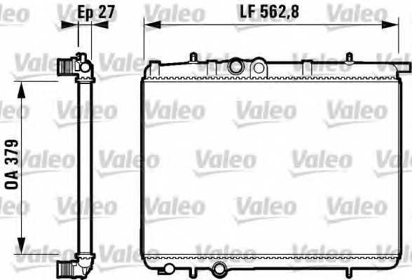 Радиатор охлаждения двигателя VALEO 732910 - изображение