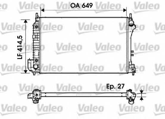 Радиатор охлаждения двигателя VALEO 732947 - изображение
