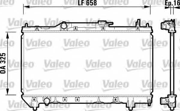 Радиатор охлаждения двигателя VALEO 732950 - изображение