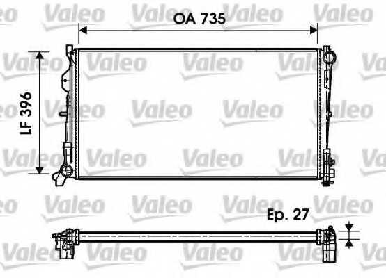 Радиатор охлаждения двигателя VALEO 732956 - изображение