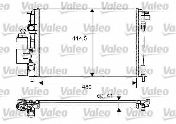 модуль охлаждения VALEO 733075 - изображение